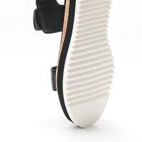 【今だけポイント10倍】AGL[アッティリオジュスティレオンブルーニ]シャーリングバンドデザインサンダル20SD642028ブラック0000本革/インポート/フラット/