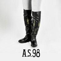 ◇2017a/w新作エアーステップ98◇A.S.98[エアーステップ98]ウエスタンモチーフバックスリットデザインニーハイブーツ169308