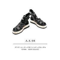 ◇2018S/S新作◇A.S.98[エアーステップ98]グラディエーターデザインスタッズフラットサンダル627006