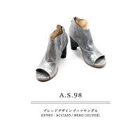 ◇2018S/S新作◇A.S.98[エアーステップ98]ブレードデザインヒールブーツサンダル637003シルバー