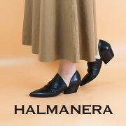 ◇2018S/S新作◇HALMANERA[ハルマネラ]シャーリングデザインポインテッドセパレートヒールパンプスJULIENNE05
