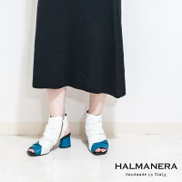 ◇HALMANERA[ハルマネラ]スクエアトゥバイカラーブーツサンダル9Sホワイトブルーgiudit01