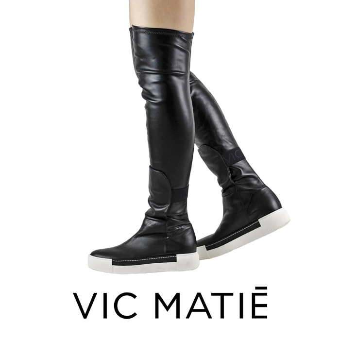 ◇VIC MATIE[ヴィックマティ]ストレッチコンビネーションニーハイスニーカーブーツ7A 5700