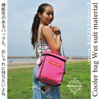 CARESTARカナロア防水クーラーバッグ保冷保温ピンク2