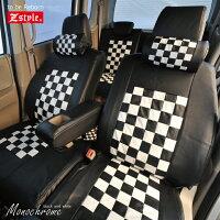 トヨタシエンタ専用プレイドチェックシリーズシートカバー4