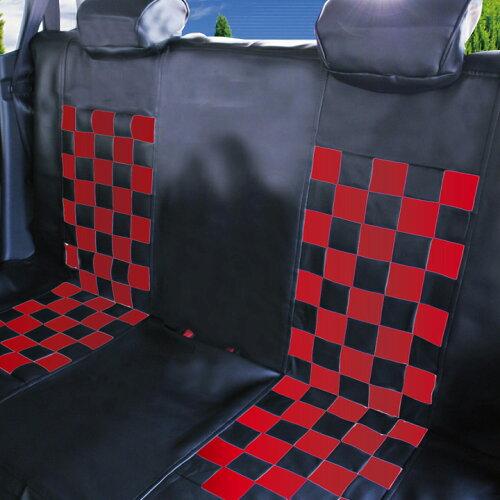 シートカバー 後部座席 軽自動車・普通車汎用 ベンチrear SeatCoverレッドマスク 10P03Dec16