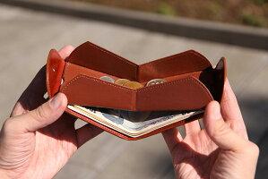 小銭入れ/スリム/小型/財布/二つ折り財布/世界一使い勝手の良いメンズ用二つ折り革財布を目指した答えが「Cartolareハンモックウォレット」です。