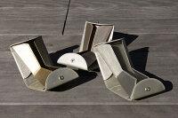 レザー/ウォレット/小銭入れ/スリム/小型/財布/二つ折り財布/世界に例を見ない、全く新しい「ハンモック構造」