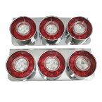 3連 ロケットテール 左右 24V 丸型 赤白 LED セット 3連テール 丸テール レトロ 小型車 トラック野郎