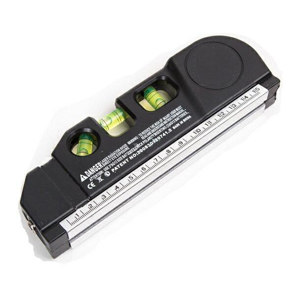 十字 レーザーレベル 水平器 水準器 メジャー付 垂直 水平 大工 道具 測量 軽量 ツール DIY レーザー レベル画像