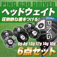 【送料無料】 PING G30 ドライバー ヘッドウェイト6点セット 6g 8g 10g 12g 14g 16g 【スポーツ・アウトドア】