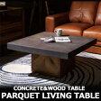 PARQUET Living Table 北欧 コンクリート天板 無垢材 (モダン カフェ風 リビング テーブル セメント ローテーブル コンクリ コーヒーテーブル リビングテーブル センターテーブル スクエアテーブル)