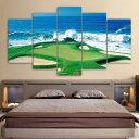 キャンバス パネルアート インテリアアートGolf Course Coast 5枚セット