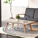 リビングテーブル コーヒーテーブル 北欧 コンクリート天板 オーク無垢材 カーサヒルズ 北欧家具 カフェ風 セメント コンクリ
