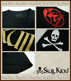 SKULLKICKS【スカルキックス】casapaterna×SKULLKICKSコラボロゴプラクティスTシャツ〈サッカーフットサルプラシャツユニフォーム