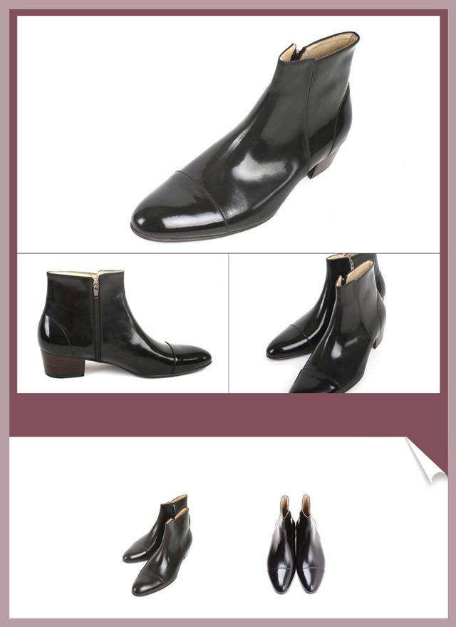 メンズ レザー ショートブーツ 本革 ブーツ ...の紹介画像3