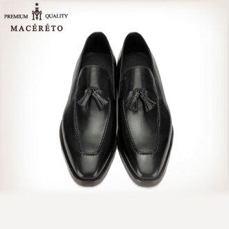 業務唯一皮革便鞋黑色商務皮鞋流蘇 Macereto (磨損的雙關流行了好滑男裝鞋酷黑色高跟鞋品牌男裝鞋休閒鞋男子酷休閒鞋鞋鞋巴士籠春)