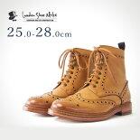 カントリーブーツ(ライトタン)LondonShoeMake(ロンドンシューメイク)グッドイヤーメンズ本革レザーショートブーツ