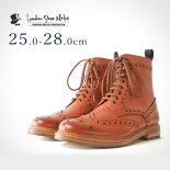 カントリーブーツ(タン)LondonShoeMake(ロンドンシューメイク)グッドイヤーメンズ本革レザーショートブーツ