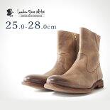 ワークブーツ(アンティークブラウン)LondonShoeMake(ロンドンシューメイク)グッドイヤーメンズ本革レザーショートブーツ