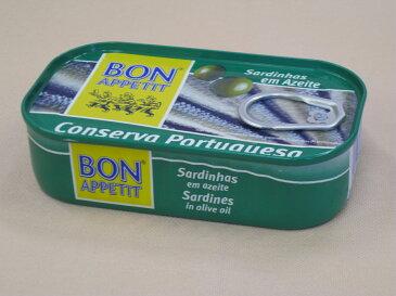 ボナペティ ポルトガル産オイルサーディン(オリーブオイル漬)