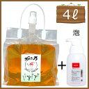 松の樹液からできたオーガニック多用途洗剤「松の力」4L濃縮/ エコロジー泡ボトル350mlセット