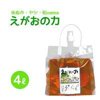 植物油由来成分からできた濃縮無添加洗剤「えがおの力」4L