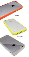 【LIM'SCRYSTALiPhone6iPhone6s/5/5s/SE】カラフルクリアーバンパーケース【アイホン5sアイフォン6アイフォン6sアイホン6アイホン6ケースアイホン6カバーiPhone6スマホケースiphone5カバーアイフォン5アイフォン5siphone5sスマホアイホン5s】