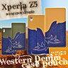Xperia Z3 Z4 Z5 Z5 compact カバー (SO-01H/SO-02H/SOV32/501SO/SOL26/SO-01G/401SO/SO-03G)用 ウエスタン デニム ケース ポーチ【 エクスペリアz5 カバー エクスペリアz3 エクスペリア 手帳 手帳型 ケース so01h so01g z3 401SO】