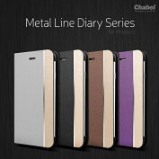 ChabelMetalLineDiaryforiPhone6(4.7�����)��iPhone6�б������ե���6�������ۥ����ۥ�6�����������ۥ�6���С����ޥۥ��������С����ޥۥ��������ޥۥ쥶���ܳ����Ģ��Ģ��