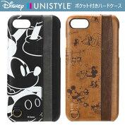 【Disney/ディズニー】iPhone7用ポケット付きハードケース/3ポケット【iphone7ケースiphone7アイフォン7アイホン7カバーiphoneミッキーミニー】