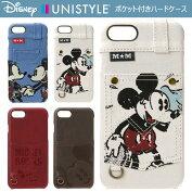 【Disney/ディズニー】iPhone7用デニムポケット付きハードケース【iphone7ケースiphone7アイフォン7アイホン7カバーiphoneミッキーミニー】