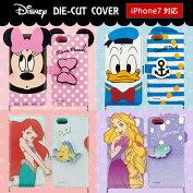 【Disney/ディズニー】可愛くて機能満載!iPhone7用ディズニーキャラクターダイカット手帳型ケース【iphone7ケースiphone7手帳型アイフォン7アイホン7カバーiphoneリトルマーメイドiphoneラプンツェル】