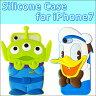 【 Disney / ディズニー 】iPhone7用 シリコンケース【 iphone7ケース iphone7 アイフォン7 アイホン7 カバー iphone ドナルド リトルグリーンメン iphone キャラクター 】