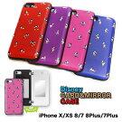 iphonexケースディズニーキャラクターミラー付カード収納ケースiPhone8iPhone8PlusケースiPhone7iPhone7Plusケース【送料無料】全4種【送料無料】正規品ミッキーミニードナルドデイジー