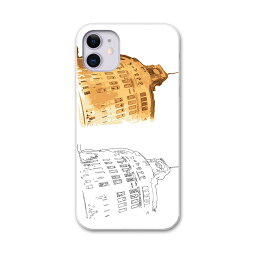 iPhone11 6.1インチ 専用 ソフトケース docomo ドコモ ソフトケース スマホカバー スマホケース ケース カバー tpu 015862 斜塔 建物