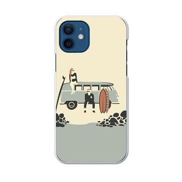 iPhone12 mini 5.4インチ 専用ハードケース アイフォン12 mini 用カバー igcase 各キャリア対応 スマホカバー カバー ケース pc ハードケース 010774 海 車 サーフィン