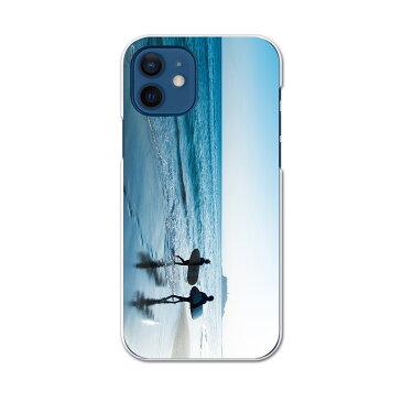 iPhone12 mini 5.4インチ 専用ハードケース アイフォン12 mini 用カバー igcase 各キャリア対応 スマホカバー カバー ケース pc ハードケース 014863 海 海岸 サーフィン 景色 夏