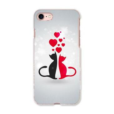 iphone8 iphone 8 softbank ソフトバンク スマホ カバー ケース スマホケース スマホカバー PC ハードケース 000254 猫 ハート イラスト