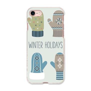 iphone8 iphone 8 アイフォーン softbank ソフトバンク スマホ カバー 全機種対応 あり ケース スマホケース スマホカバー TPU ソフトケース 007505 冬 手袋 雪 結晶