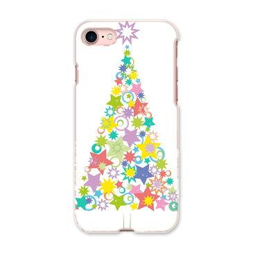 iphone7 iphone 7 softbank ソフトバンク スマホ カバー ケース スマホケース スマホカバー PC ハードケース クリスマス ツリー 星 009954