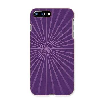 iphone7plus アイフォーン iphone7 plus softbank ソフトバンク スマホ カバー 全機種対応 あり ケース スマホケース スマホカバー PC ハードケース シンプル 紫 チェック・ボーダー 002025