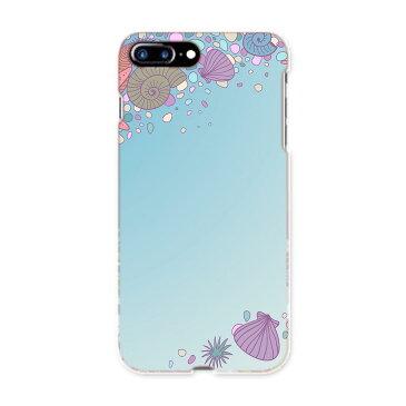 iphone8plus iphone 8 plus アイフォーン softbank ソフトバンク スマホ カバー スマホケース スマホカバー TPU ソフトケース 005916 海 貝殻 イラスト