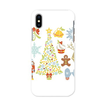 iphone Xs iPhone 10s アイフォーン エックスエス テンエス softbank docomo au スマホ カバー 全機種対応 あり ケース スマホケース スマホカバー PC ハードケース 009956 クリスマス ツリー 雪