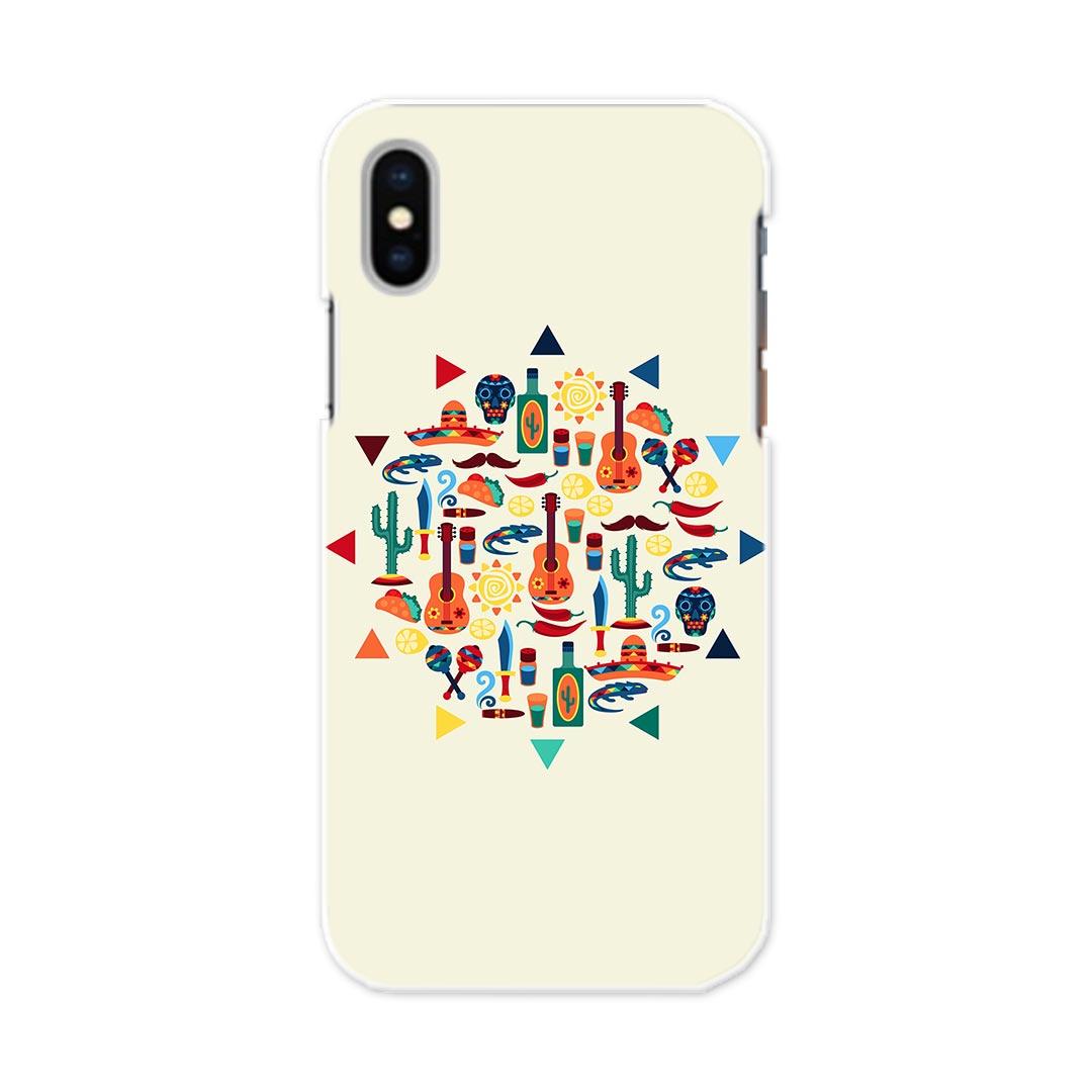 iPhone X iPhone 10 アイフォーン エックス テン APPLE softbank ソフトバンク iphonex スマホ カバー ケース スマホケース スマホカバー TPU ソフトケース 010639 カラフル サボテン ネイティブ柄