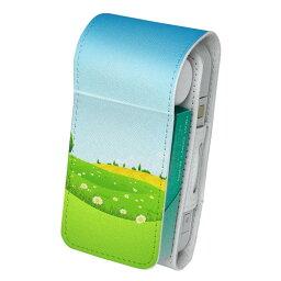 「宅配便専用」iQOS アイコス 専用 レザーケース 従来型 / 新型 2.4PLUS 両対応 タバコ ケース カバー 合皮 クリーナー 収納 アイコスケース デザイン 景色 風景 イラスト 002547