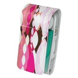 「宅配便専用」iQOS アイコス 専用 レザーケース 従来型 / 新型 2.4PLUS 両対応 タバコ ケース カバー 合皮 クリーナー 収納 アイコスケース デザイン ピンク 模様 004843