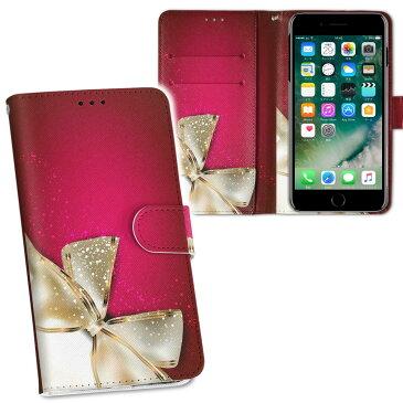 iphone XR iPhone 10r アイフォーン エックスアール テンアール iphonexr softbank docomo au 両面プリント 裏表 内側 内面 スマホ カバー ケース 手帳タイプ フリップ ダイアリー 二つ折り フルデザイン 000228 リボン ピンク プレゼント