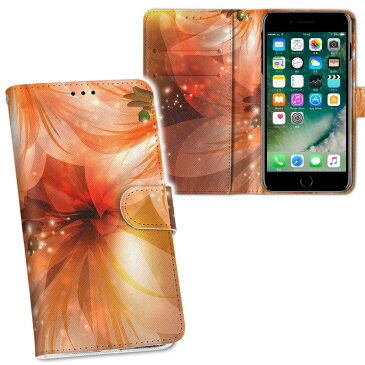 iphone X iPhone 10 アイフォーン エックス テン softbank ソフトバンク 両面プリント 裏表 内側 内面 スマホ カバー レザー ケース 手帳タイプ フリップ ダイアリー 二つ折り 革 フルデザイン 001991 花 フラワー オレンジ