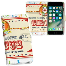 iPhone11 6.1インチ 専用 iphone 11 アイフォン softbank docomo au 両面プリント 裏表 内側 内面 スマホ カバー レザー ケース 手帳タイプ フリップ ダイアリー 二つ折り 革 フルデザイン 006977 ユニーク サーカス 英語 文字